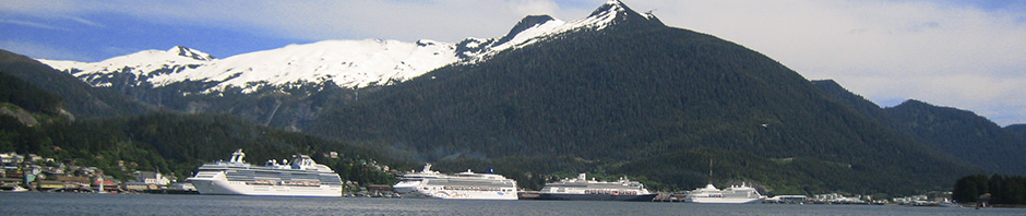 Ships docked in Ketchikan, Alaska